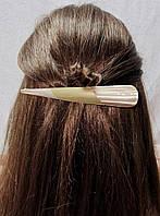 Заколка зажим для волос Золотистый перламутр 14см, фото 1