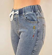 Джинсы женские стрейч в хороших размерах 28 - 33  Джеггинсы Натали - полубатал, фото 2