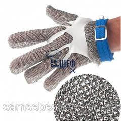 Перчатка кольчужная пятипалая без манжеты size L (9 - 9.5)