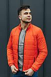 """Куртка мужская демисезонная без капюшона """"АРТ 067.07"""" оранжевый. Живое фото (весенняя куртка), фото 2"""