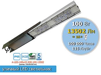 Уличный консольный LED светильник 100W, 13 502Lm, IP65