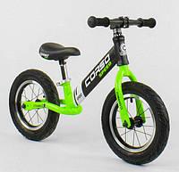 Беговел, велобег CORSO 64207, стальная рама, колесо 12«, надувные колёса