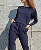 Весенний спортивный прогулочный костюм трикотажный повседневный хаки коричневый бежевый пудровый, фото 7