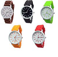 Женские кварцевые часы GENEVA Женева с силиконовым ремешком салатовые, дешевые женские часы