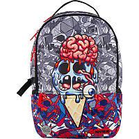 Молодежный городской подростковый рюкзак с usb портом Kite City 2569-4 Мозги для студентов (K20-2569L-4)