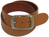 Широкий ремень под джинсы из кожи, Cramer & Co, Германия, 100122 светло коричневый, 5х114 см