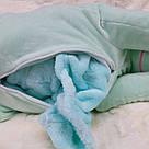Іграшка-плед-подушка Єдиноріг 🦄 бірюза, фото 4