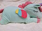 Іграшка-плед-подушка Єдиноріг 🦄 бірюза, фото 2