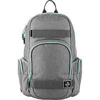 Спортивный молодежный рюкзак серый мужской Kite City для города (K20-924L-1)