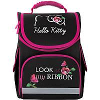 Ортопедический рюкзак (ранец) в школу черный для девочки Kite Education Hello Kitty для начальной школы