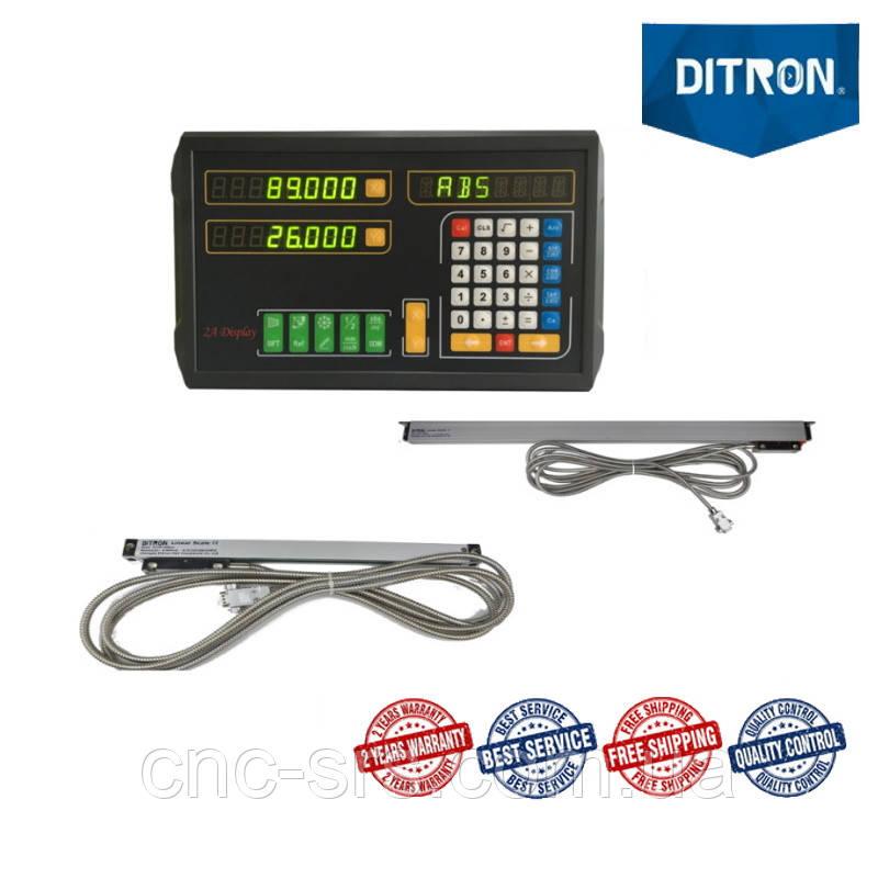 16К20, 2 оси, РМЦ 710 мм., 5 мкм., комплект линеек и УЦИ Ditron на токарный станок