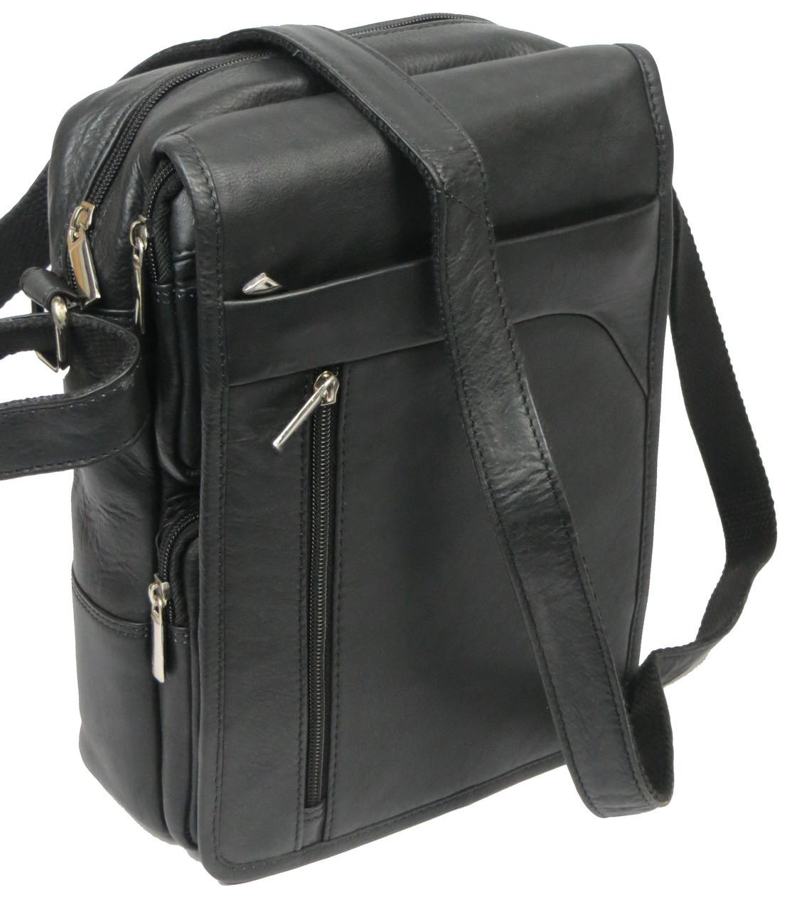 Чоловіча сумка зі шкіри Always Wild 0163-52223 чорна