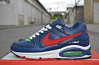Подростковые кроссовки Nike air max ,синие с красным, фото 1