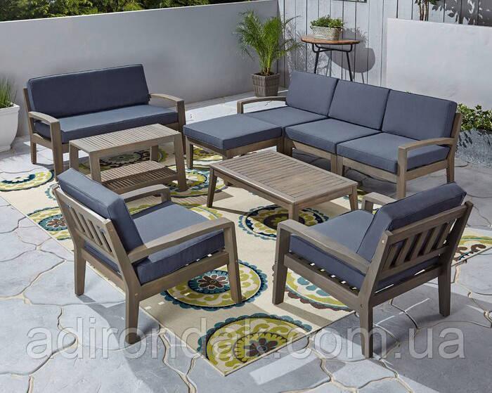 Комплект мебели из 9 секций с подушками