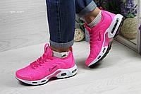 Кроссовки женские Nike air max TN,сетка,ярко розовые