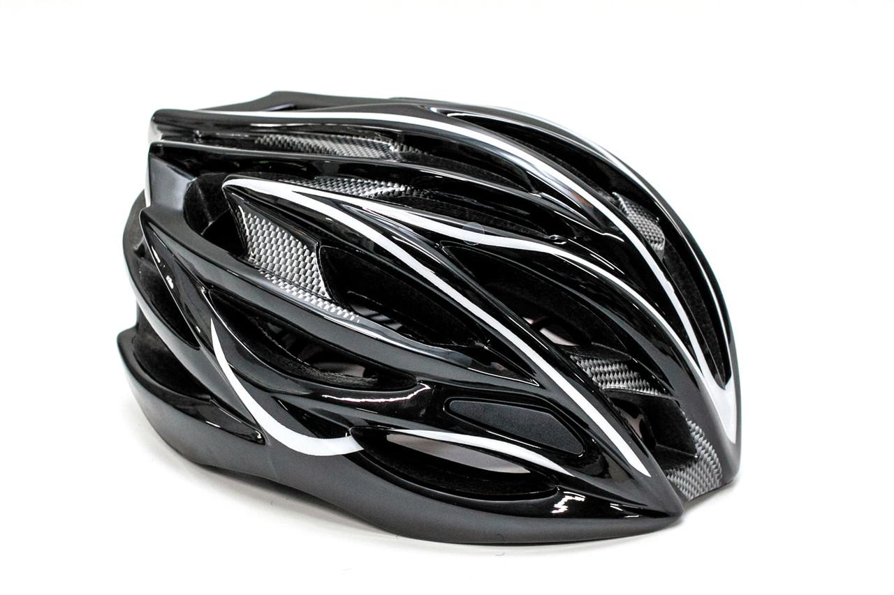 Шлем велосипедный FSK AH404 56-63см чёрно-белый