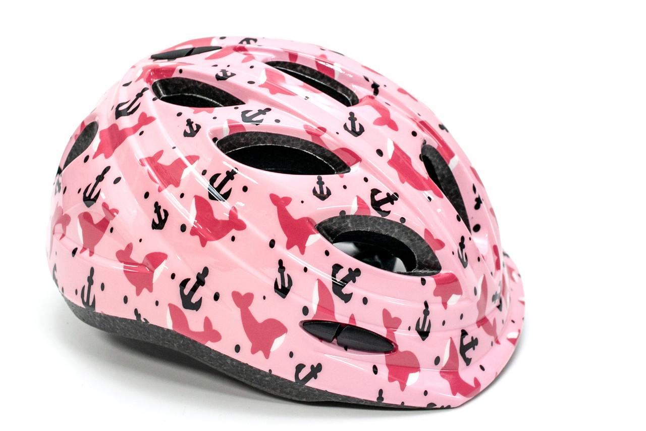 Шлем защитный детский FSK KY501 48-56см коралловый