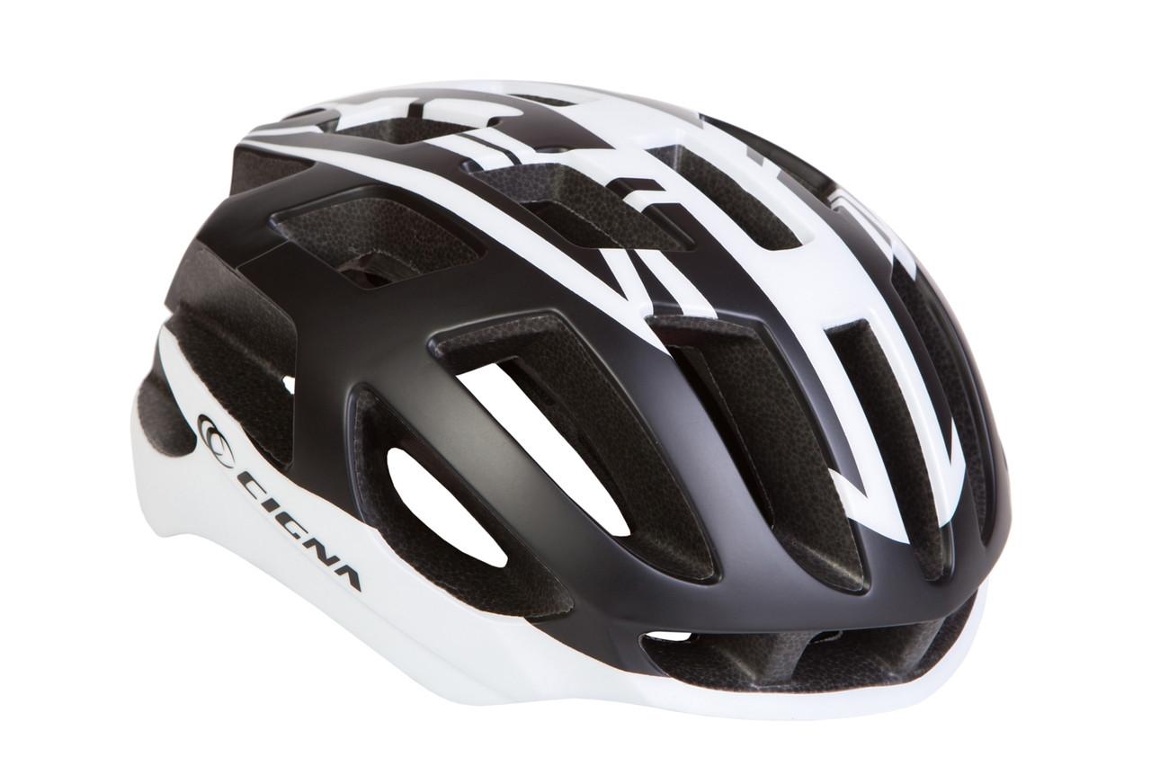 Шлем для велосипеда СIGNA TT-4 чёрно-белый L (58-61см)