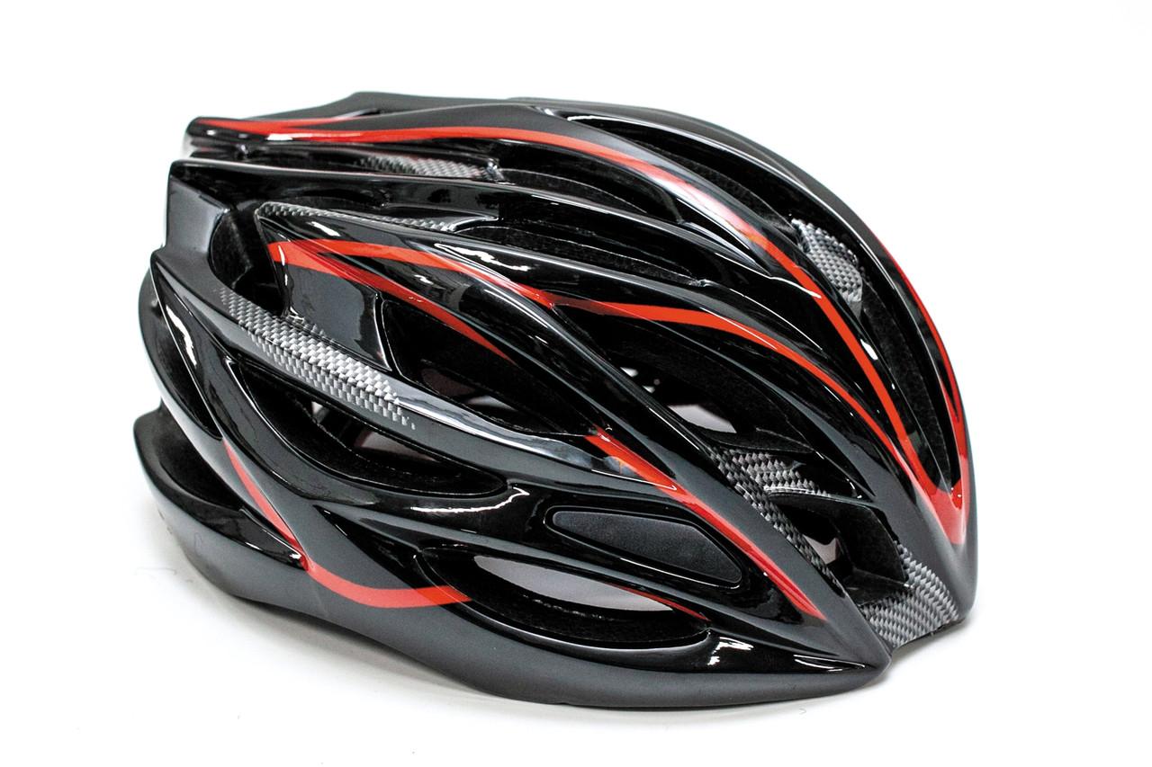 Шлем велосипедный FSK AH404 56-63см черно-красный