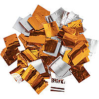 Конфетти-Метафан ЛК221 Оранжево-Серебряный 2х2 1кг, фото 1