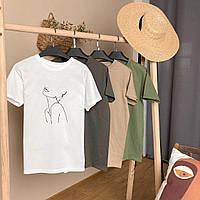 Женская футболка с принтом, фото 1