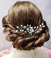 Шпилька для волос с жемчугом и камнями, фото 1