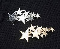 Заколка для волос Звёзды (цвет золото или серебро), фото 1