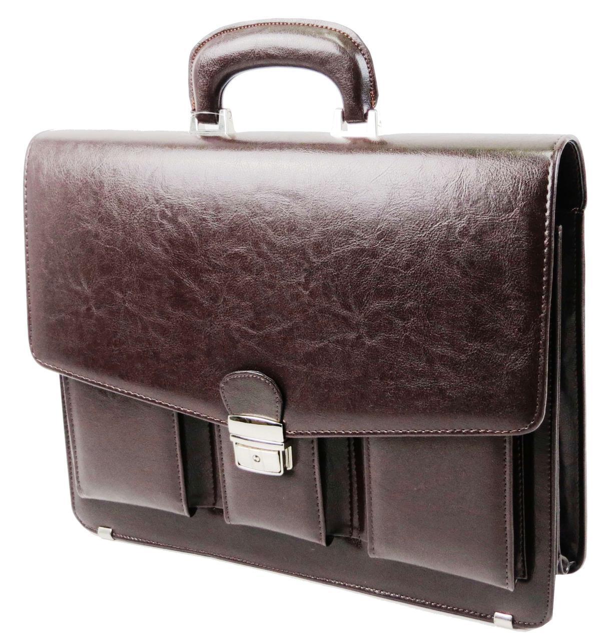 Портфель чоловічий зі штучної шкіри JPB, TE-88 коричневий