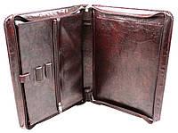 Папка с ручкой мужская из кожзаменителя Exclusive 710200 коричневая