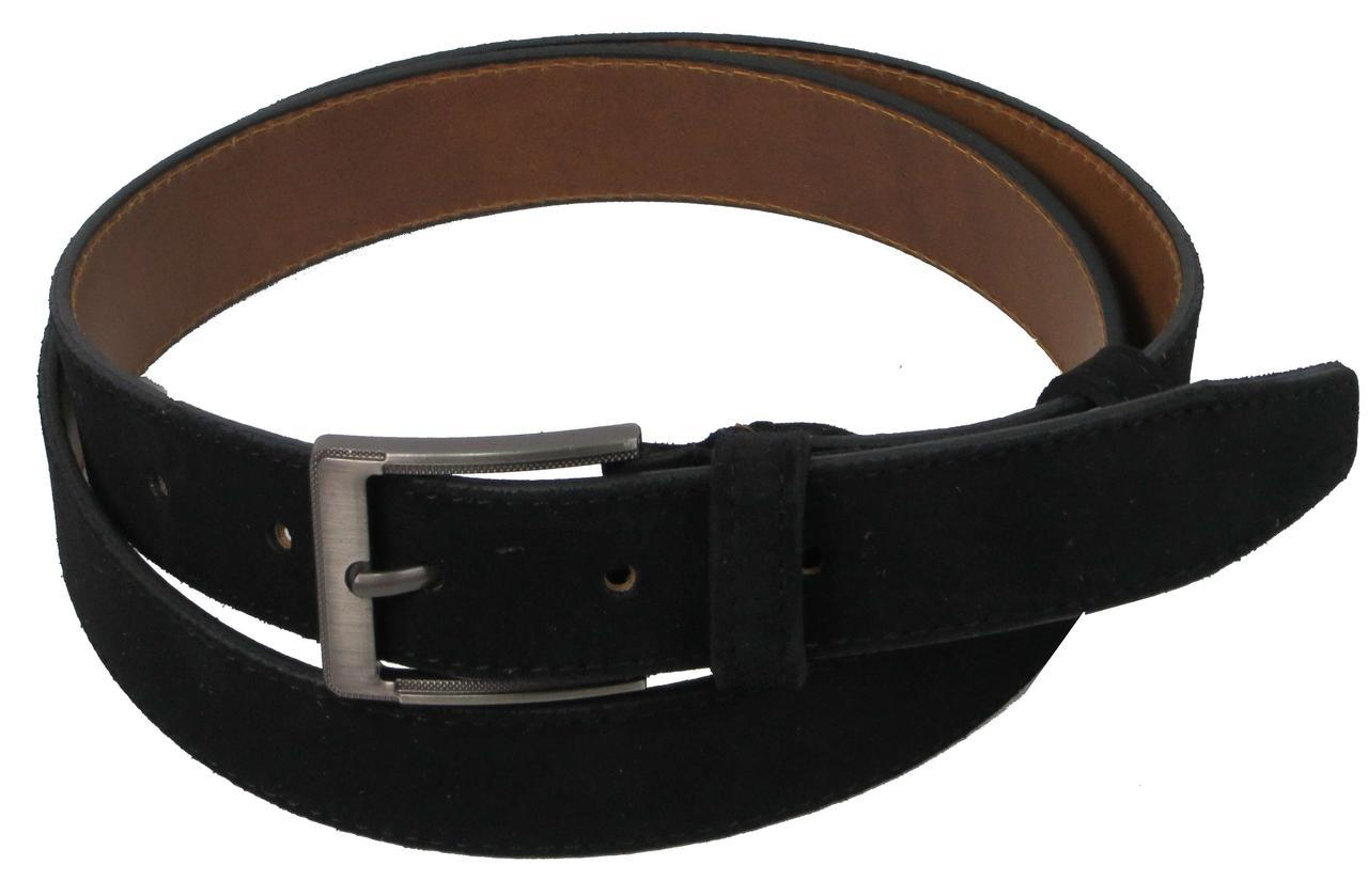 Ремень замшевый под брюки Skipper 1279-35 черный 3,5 см