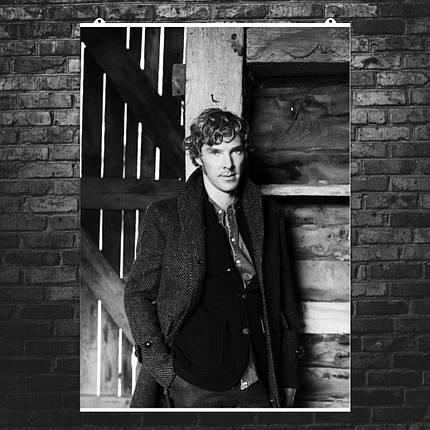 "Постер ""Бенедикт Камбербэтч в молодости"". Sherlock, Шерлок. Размер 60x43см (A2). Глянцевая бумага, фото 2"