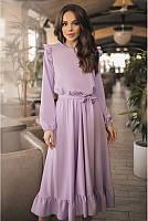 """Женское платье с поясом """"Инга"""" все цвета до 60 размера"""