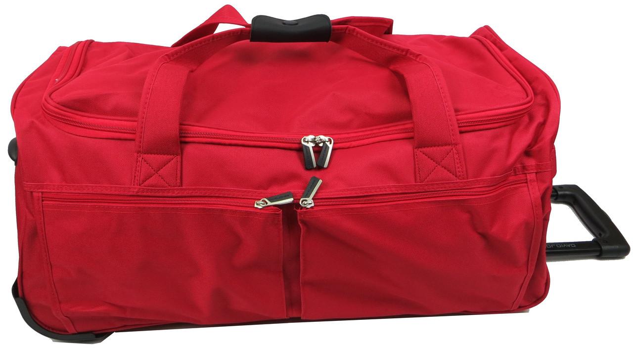 Дорожня сумка на колесах 65 л David Jones B8881 червона