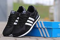 Подростковые кроссовки Адидас, Adidas черные с белым 36,38, фото 1