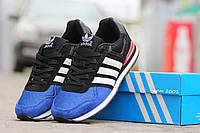 Подростковые кроссовки Адидас, Adidas темно синие с черным 38,39, фото 1