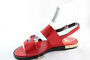 Червоні босоніжки на низькому каблуці Vensi V309, фото 3