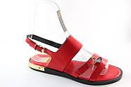 Красные босоножки на низком каблуке Vensi V309, фото 2