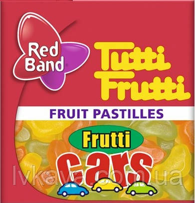 Жевательные конфеты Frutti Cars  Tutti Frutti Red Band , 15 гр, фото 2