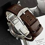 AMST 3003 Silver-Black Brown Wristband, фото 5