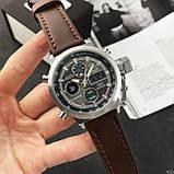 AMST 3003 Silver-Black Brown Wristband, фото 6