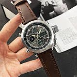 AMST 3003A Silver-Black-Brown Wristband, фото 6