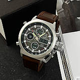 AMST 3003 Silver-Black Brown Wristband, фото 7