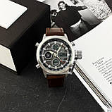 AMST 3003 Silver-Black Brown Wristband, фото 9