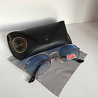 Cолнцезащитные очки унисекс Ray Ban OVAL голубой комплект, фото 1