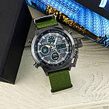 AMST 3003 Black-Black Green Wristband, фото 4