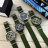 AMST 3003 Black-Black Green Wristband, фото 5