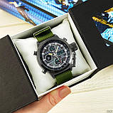 AMST 3003 Black-Black Green Wristband, фото 6