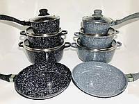 Набор посуды с мраморным покрытием, 7 предметов A-Plus 1503