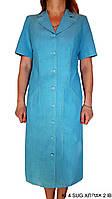 Платье повседневное в стиле сафари. Хлопок 100%. Пр-во Польша. Р-р 46-52. Цвета: голубой, красный, оранжевый.