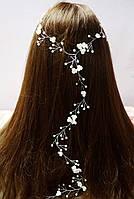 Нить для волос с жемчугом и цветочками 1,0м, фото 1